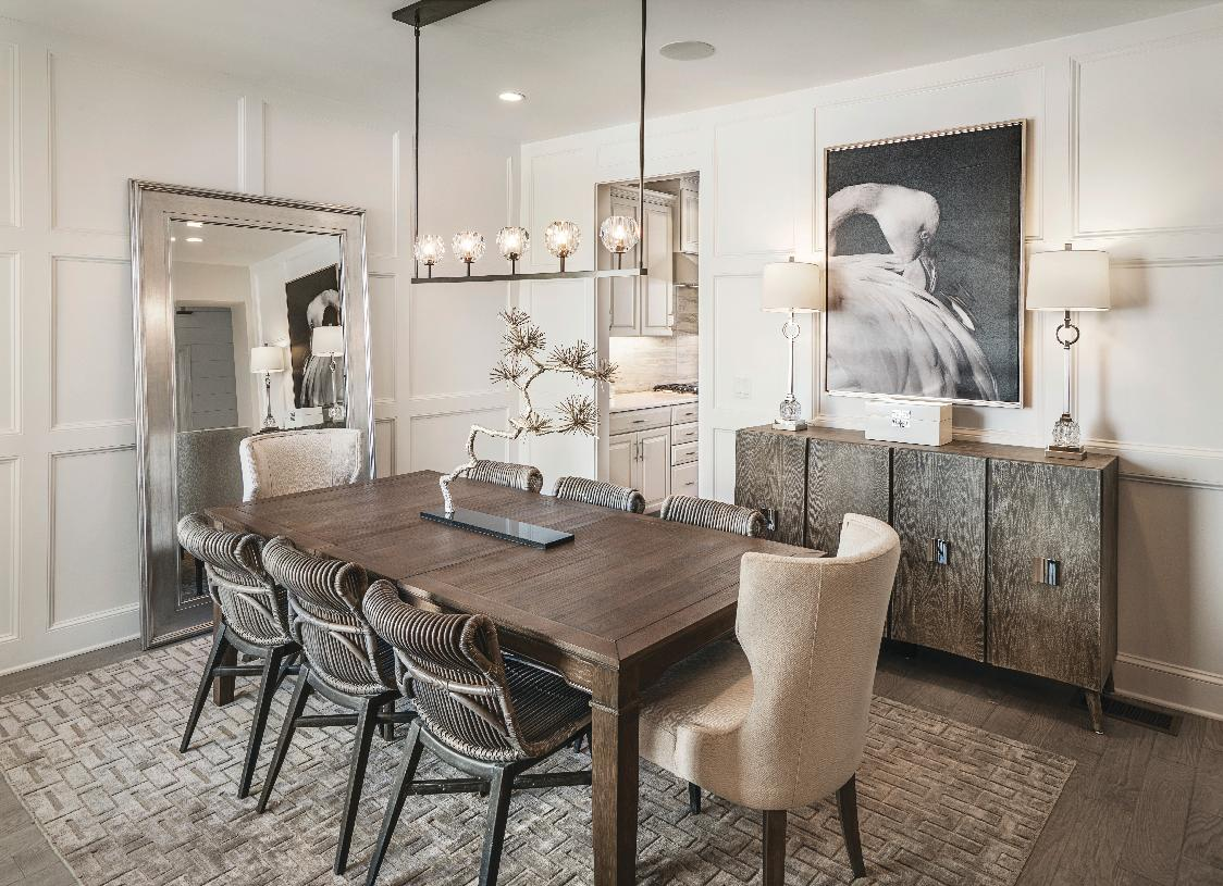 Dining room perfect for family gatherings