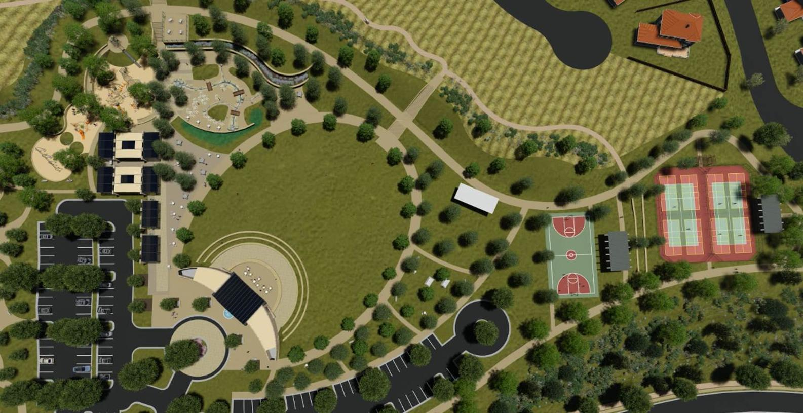 Future Porter Ranch Park Overall Site