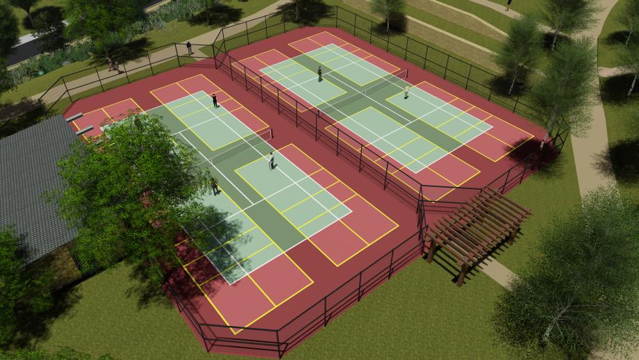 Future Porter Ranch Park Sport Courts