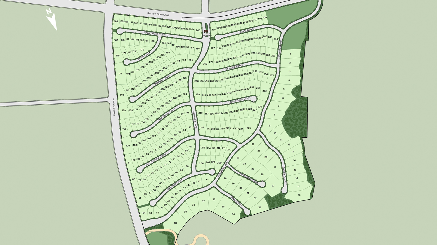 Hillcrest at Porter Ranch - Beacon Collection Overall Site Plan