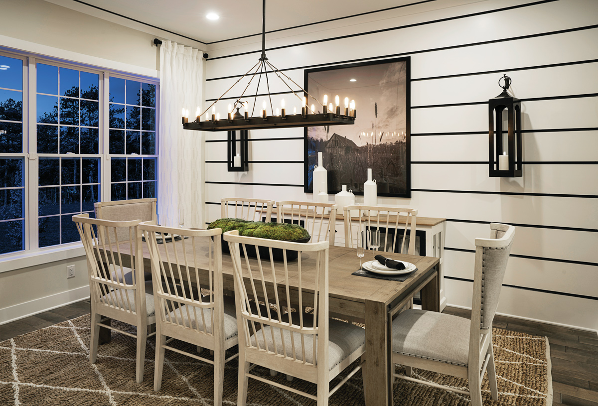 Formal dining perfect for family gatherings