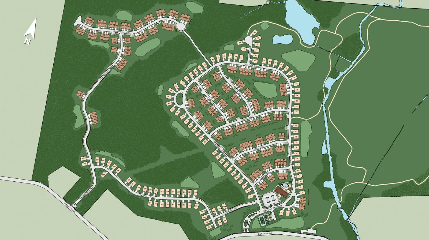 Regency at Glen Ellen Overall Site Plan