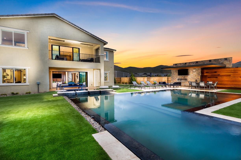 Brighton pool and backyard