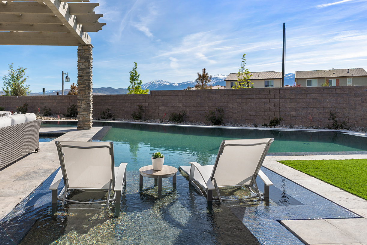 Portillo pool and backyard