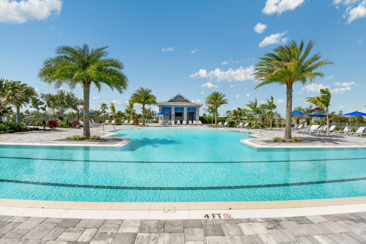 The Lagoon resort-style swimming pool at The Pier House, the community amenity center
