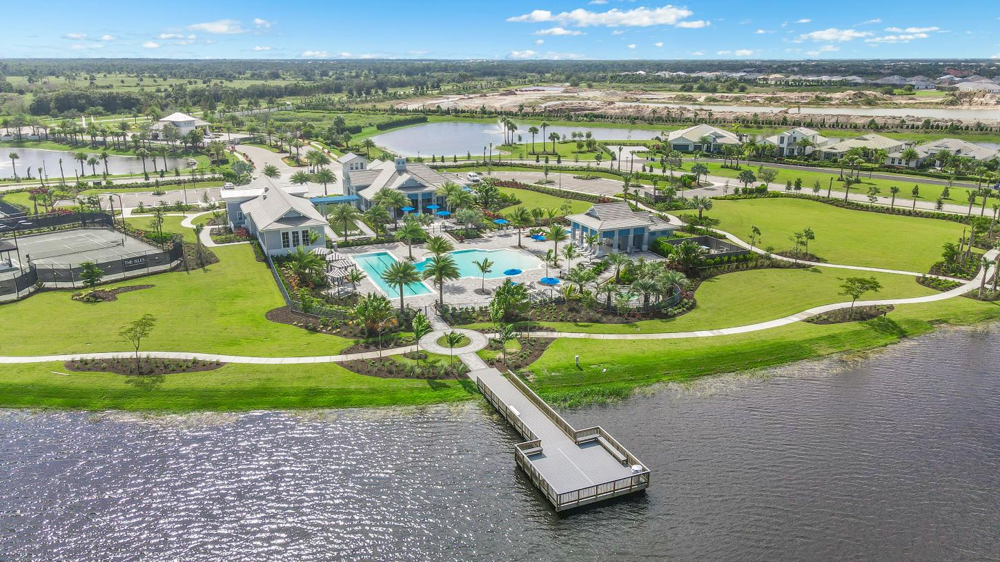 Aerial view of The Pier House, the community amenity center