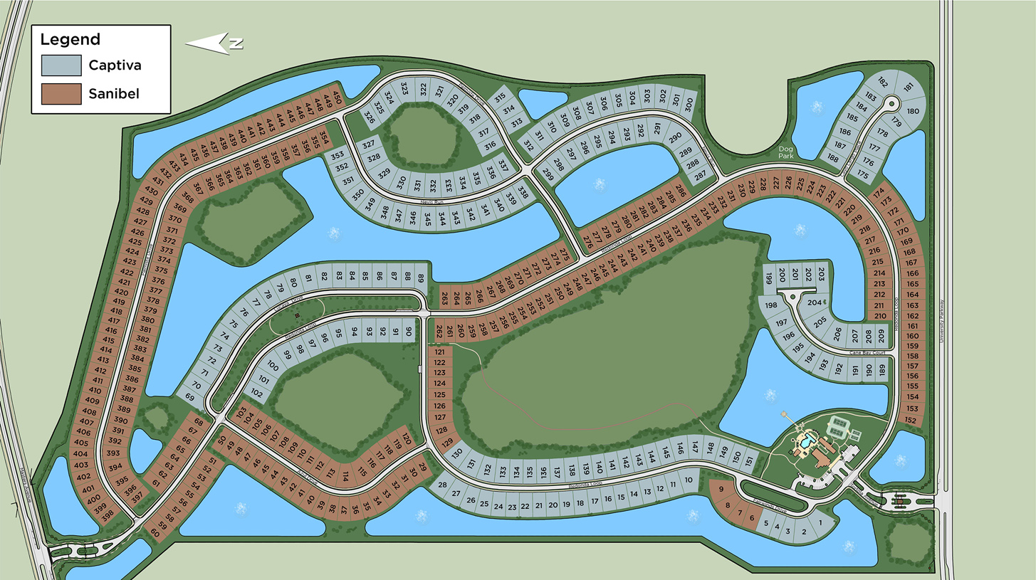 The Isles at Lakewood Ranch Overall Site Plan