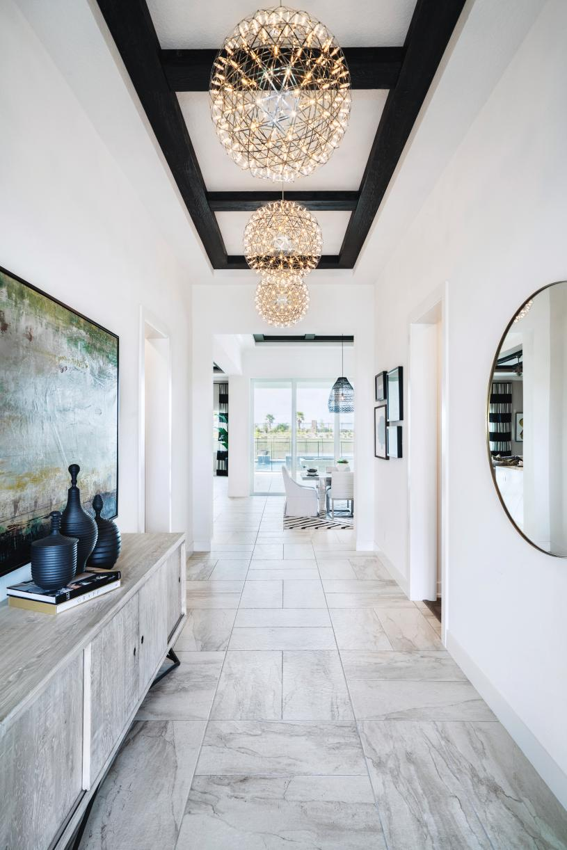 Warm and inviting entry foyers