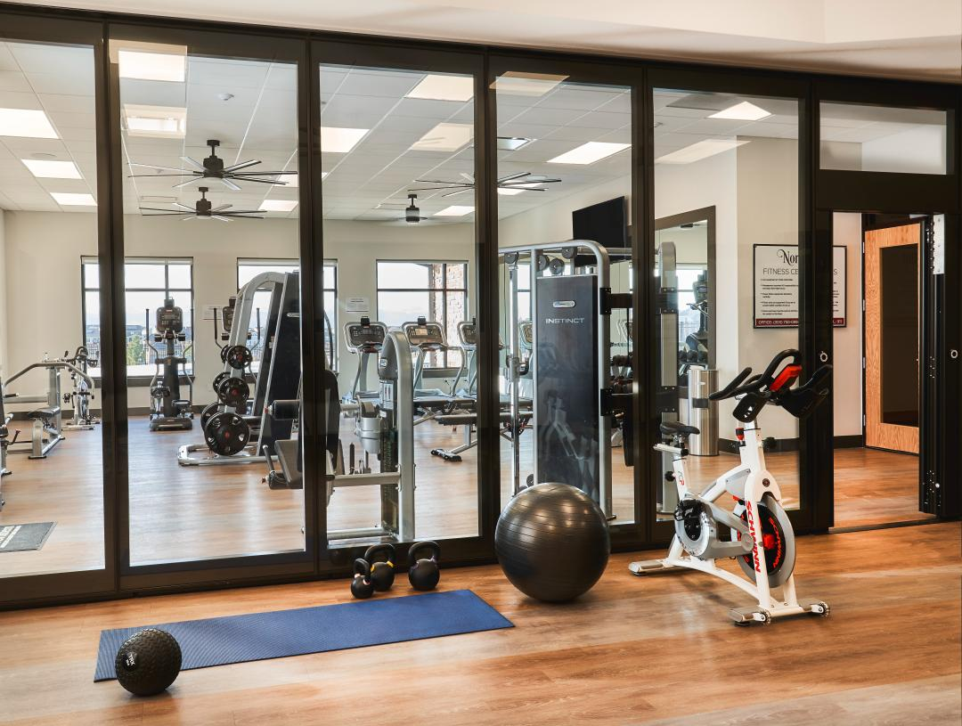 Amenity center fitness space