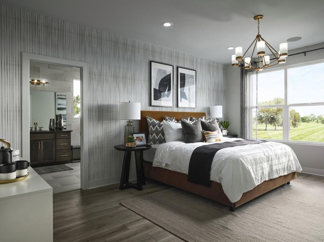 Luxurious Haywood primary bedroom