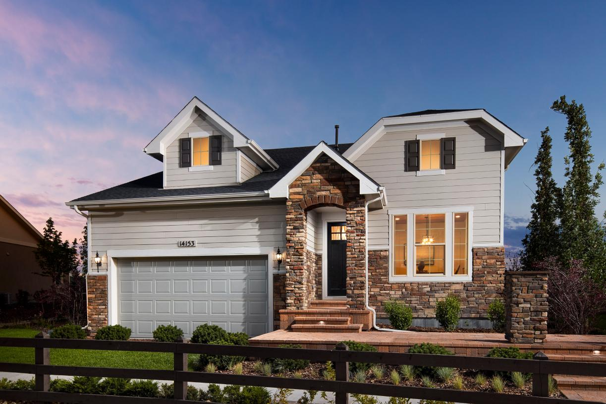 Exterior of the Haywood model home