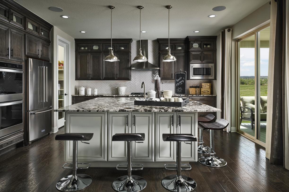 Hayden gourmet kitchen with oversized center island