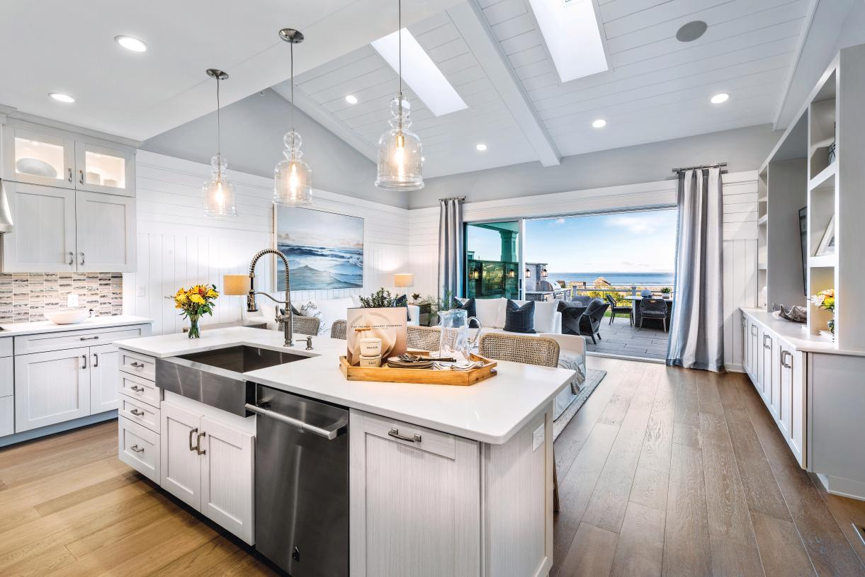 Spacious kitchen opens to great room