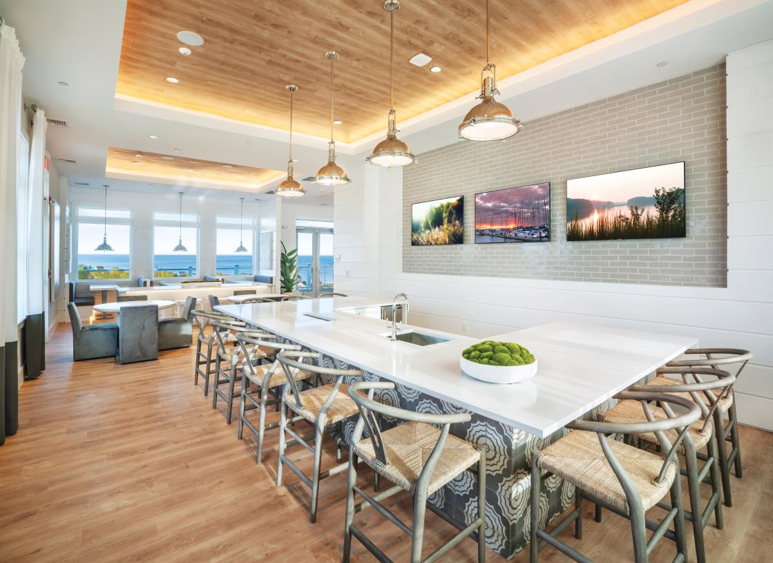 Brand-new clubhouse main hall for residents to enjoy