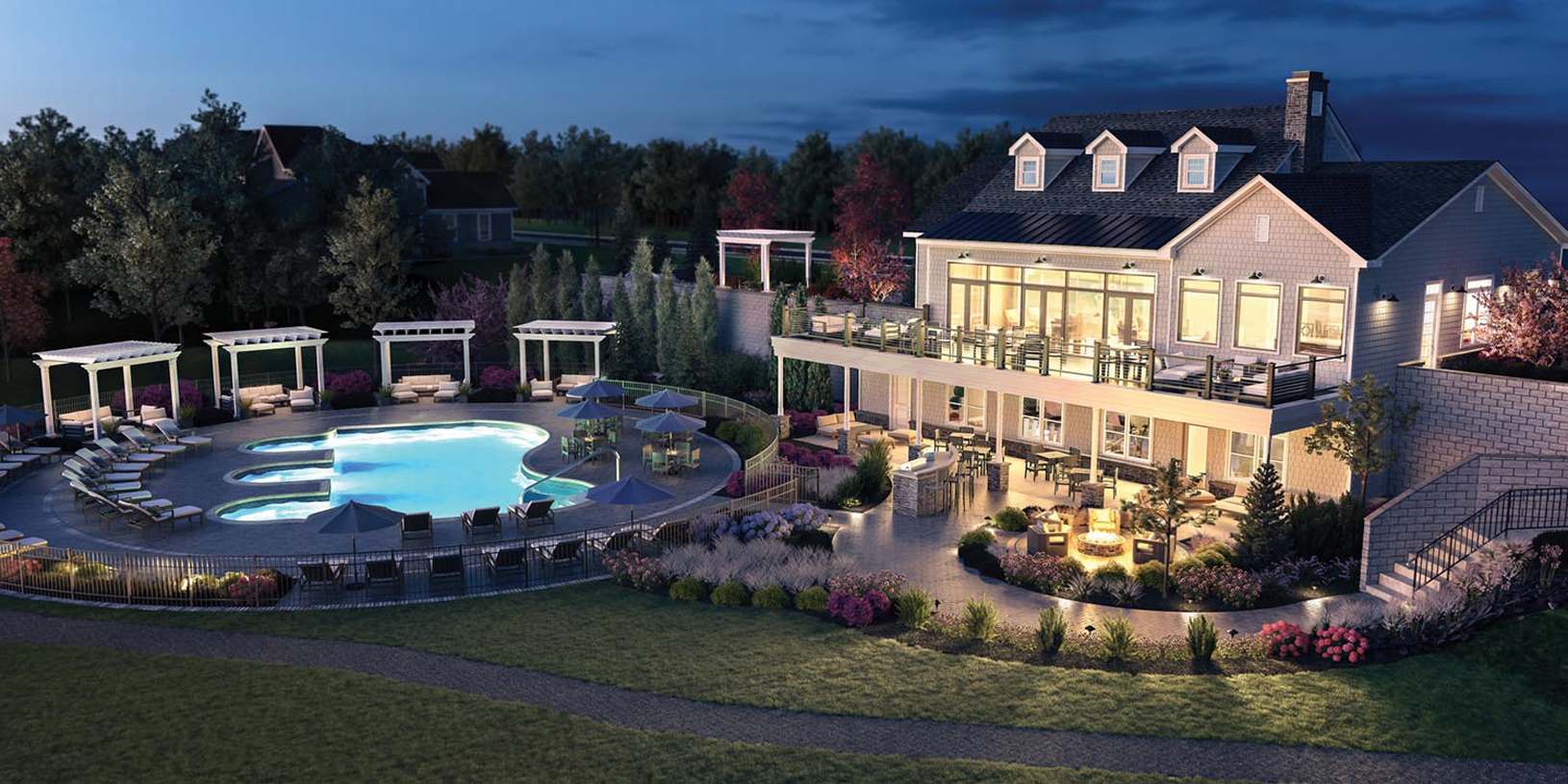 Community clubhouse and amenities
