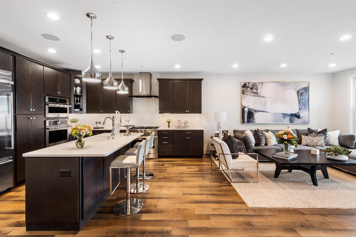 Large kitchen opens to great room