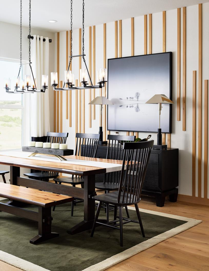 Sopris dining room with beautiful natural light