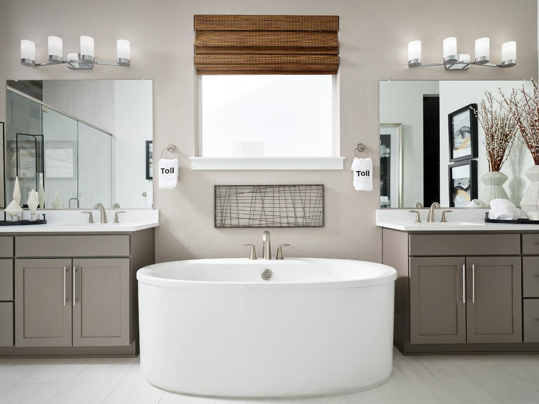 Pagosa primary bathroom with freestanding tub