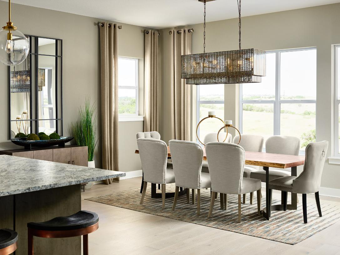 Montview dining room with bright natural light