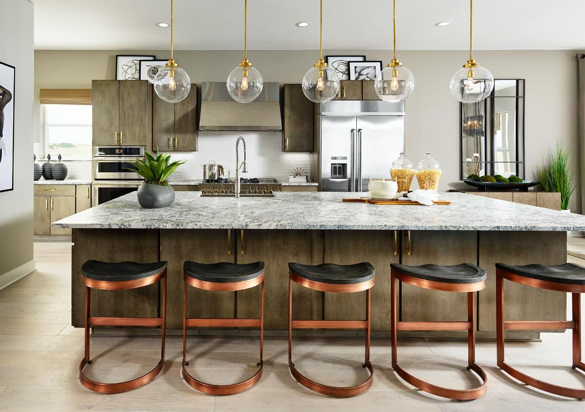 Montview kitchen with casual seating