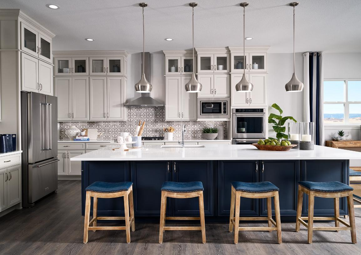 Greyson kitchen with seating for entertaining