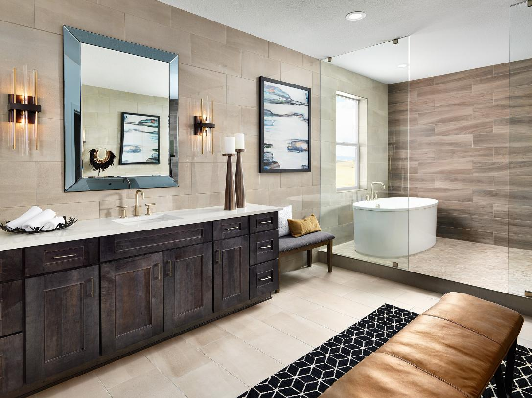 Ogden primary bathroom with freestanding tub