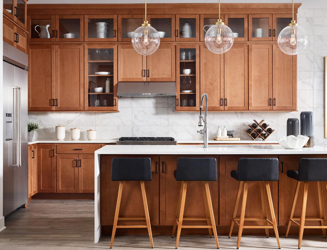 Whitley kitchen with casual seating
