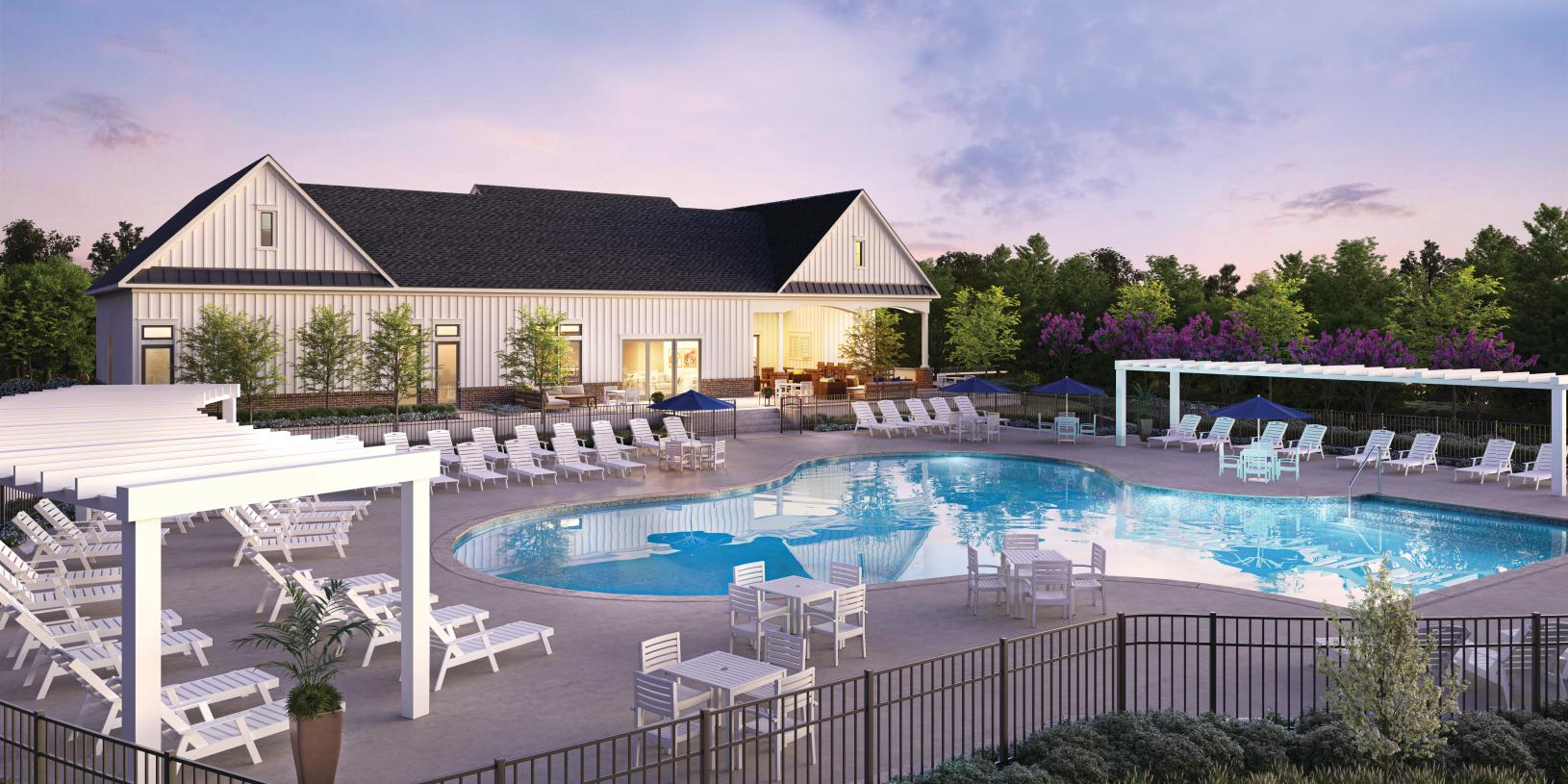 The future clubhouse pool at Middletown Walk