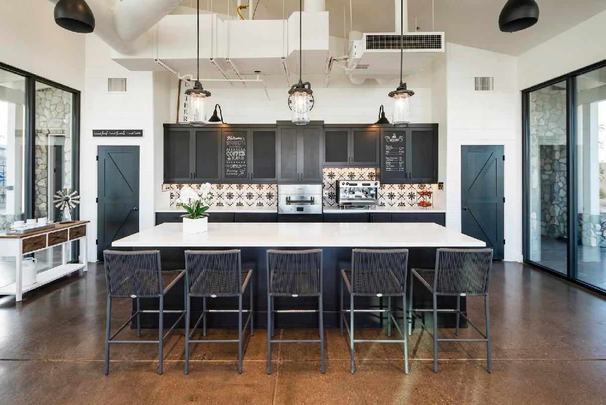 Beautiful kitchen in the clubhouse for entertaining