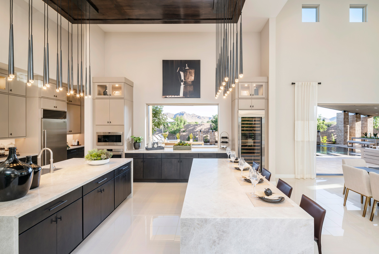 Luxurious kitchens with dual islands for entertaining