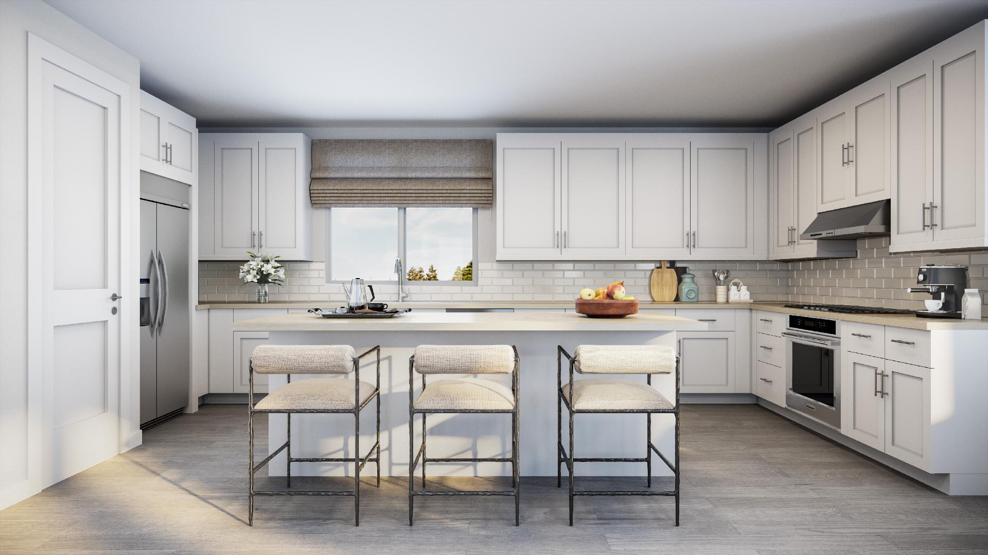 Verbena floor plan kitchen