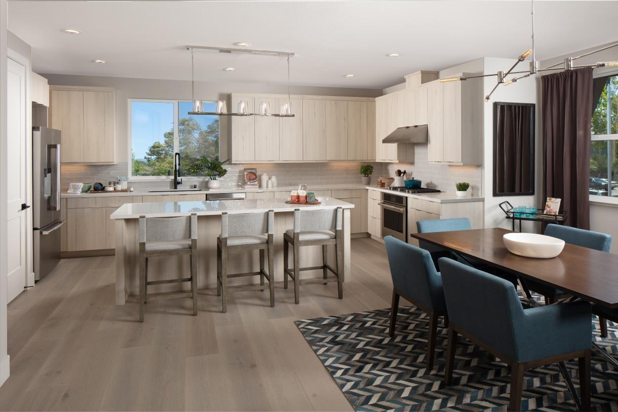 Kitchen and casual dining room