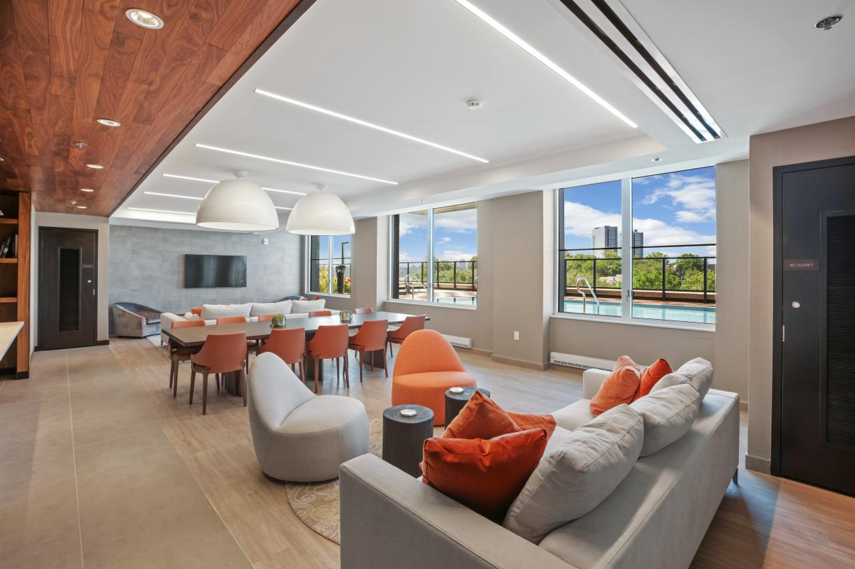 Resident lounge with catering kitchen