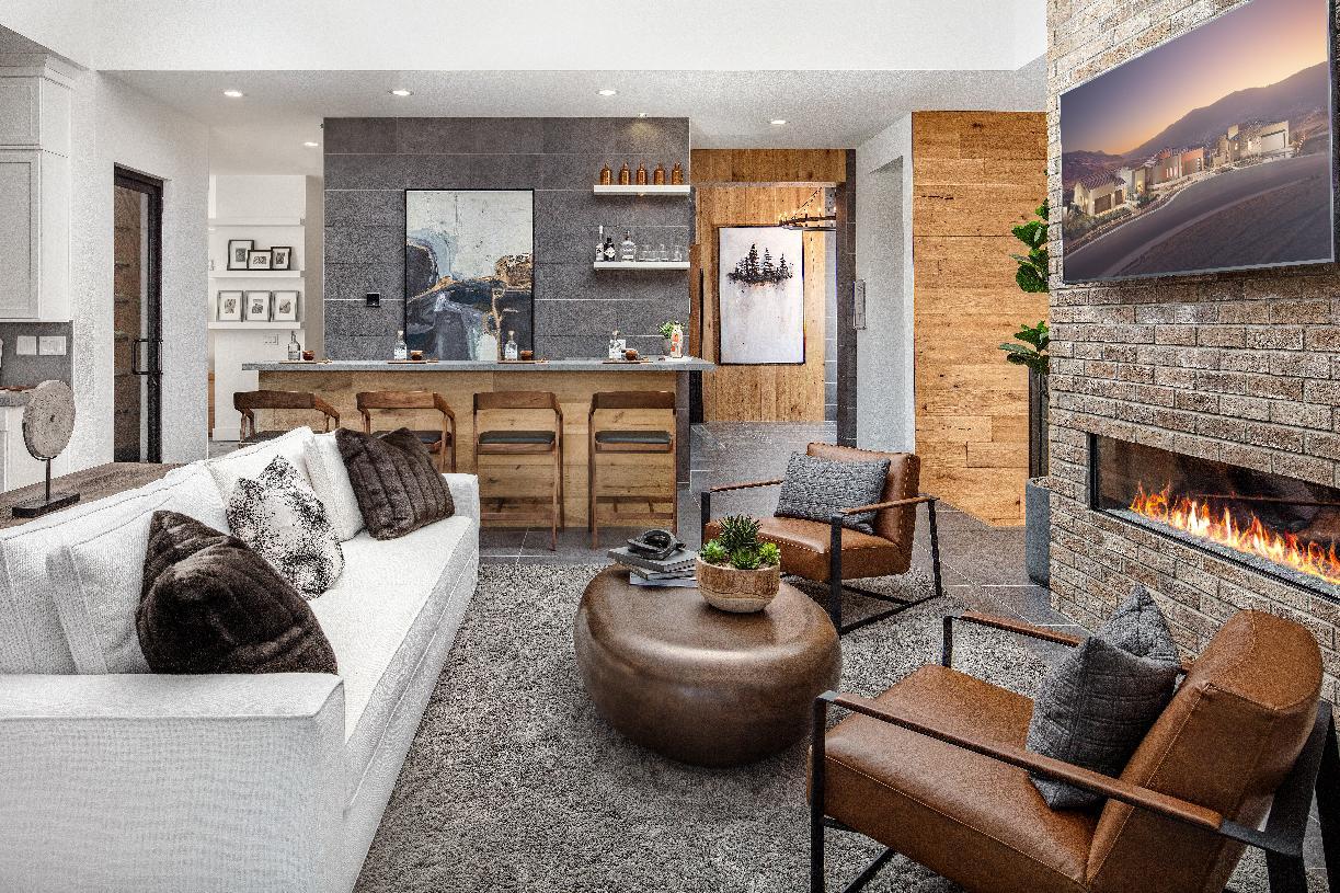 Everest Elite living room and wet bar