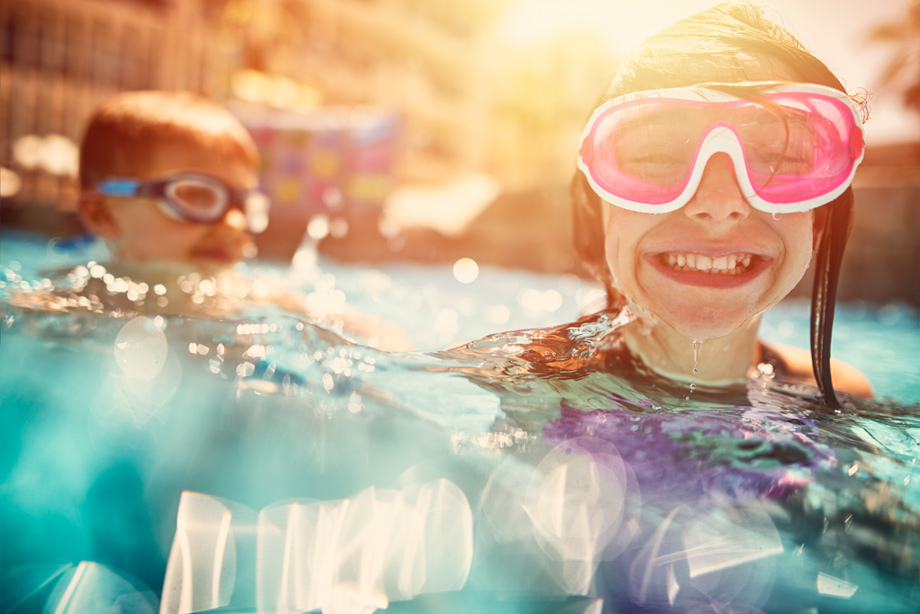Swim or relax at the community outdoor swimming pool