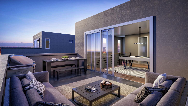 Moderna rooftop terrace
