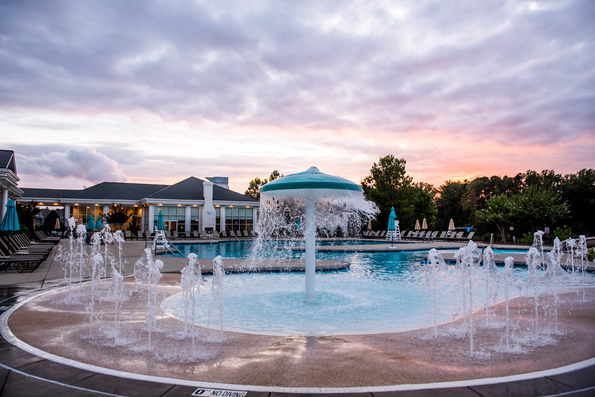 Relax with friends and family with an evening poolside