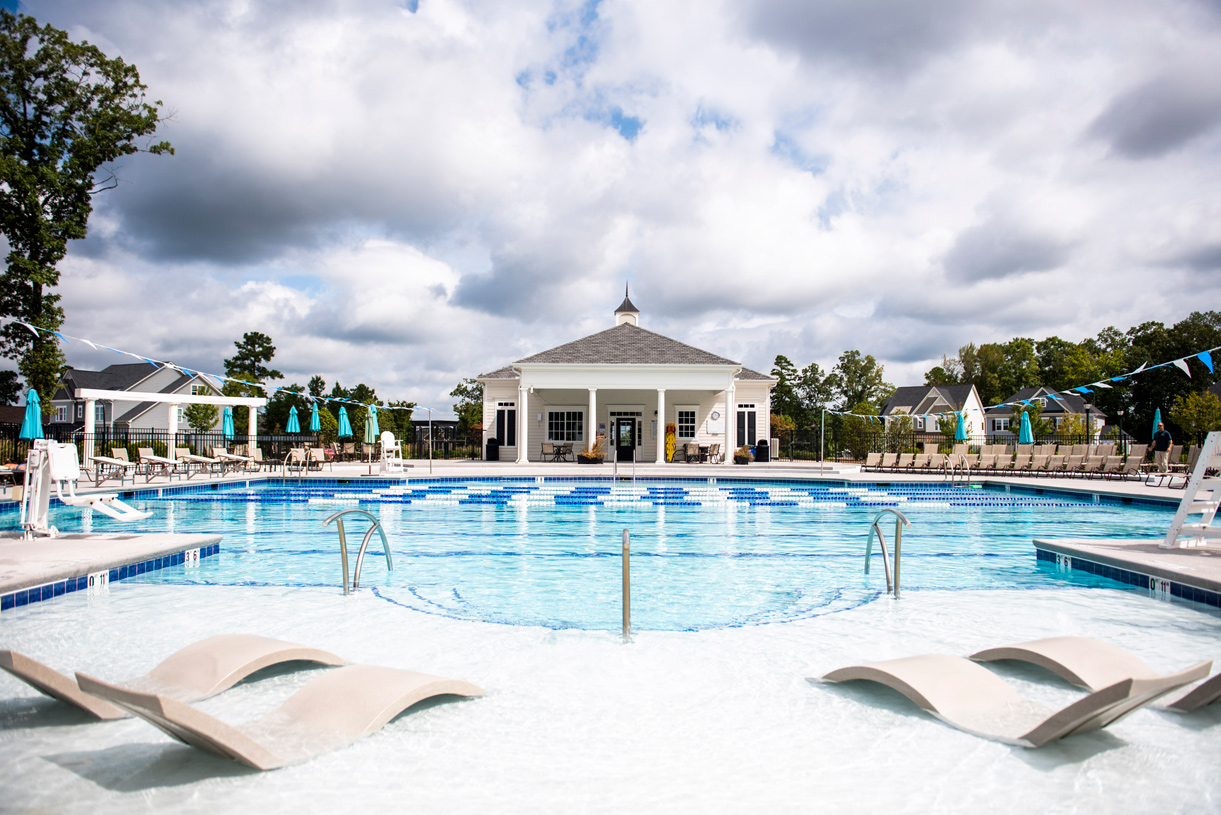 Relax in style at your personal pool and clubhouse