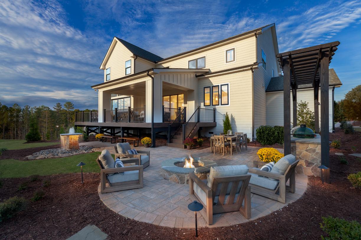 Luxury outdoor living area