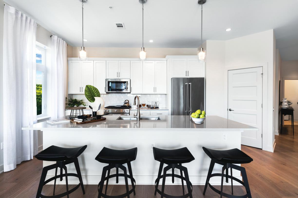 Well-appointed kitchen with KitchenAid appliances