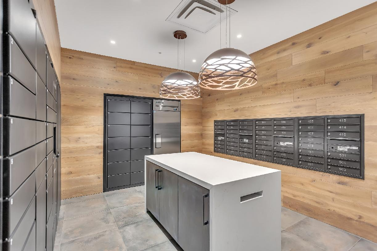 Concierge room for packages and cold storage for grocery deliveries