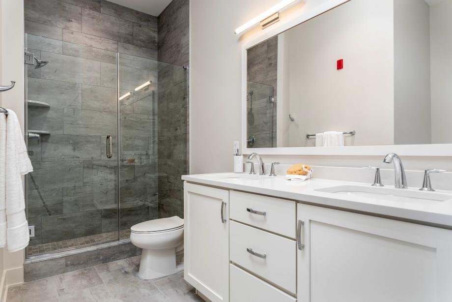 Representative photo: Luxurious primary bathroom