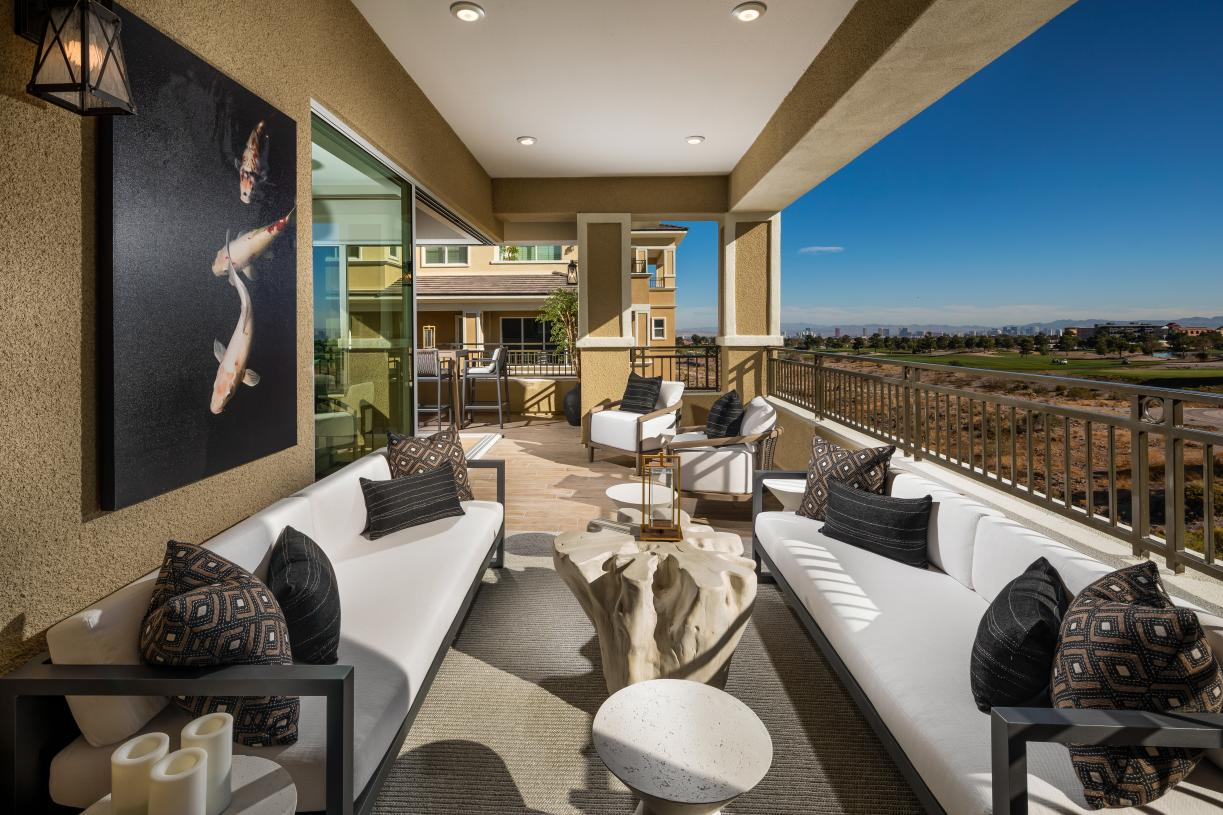 Generous covered deck ideal for outdoor living