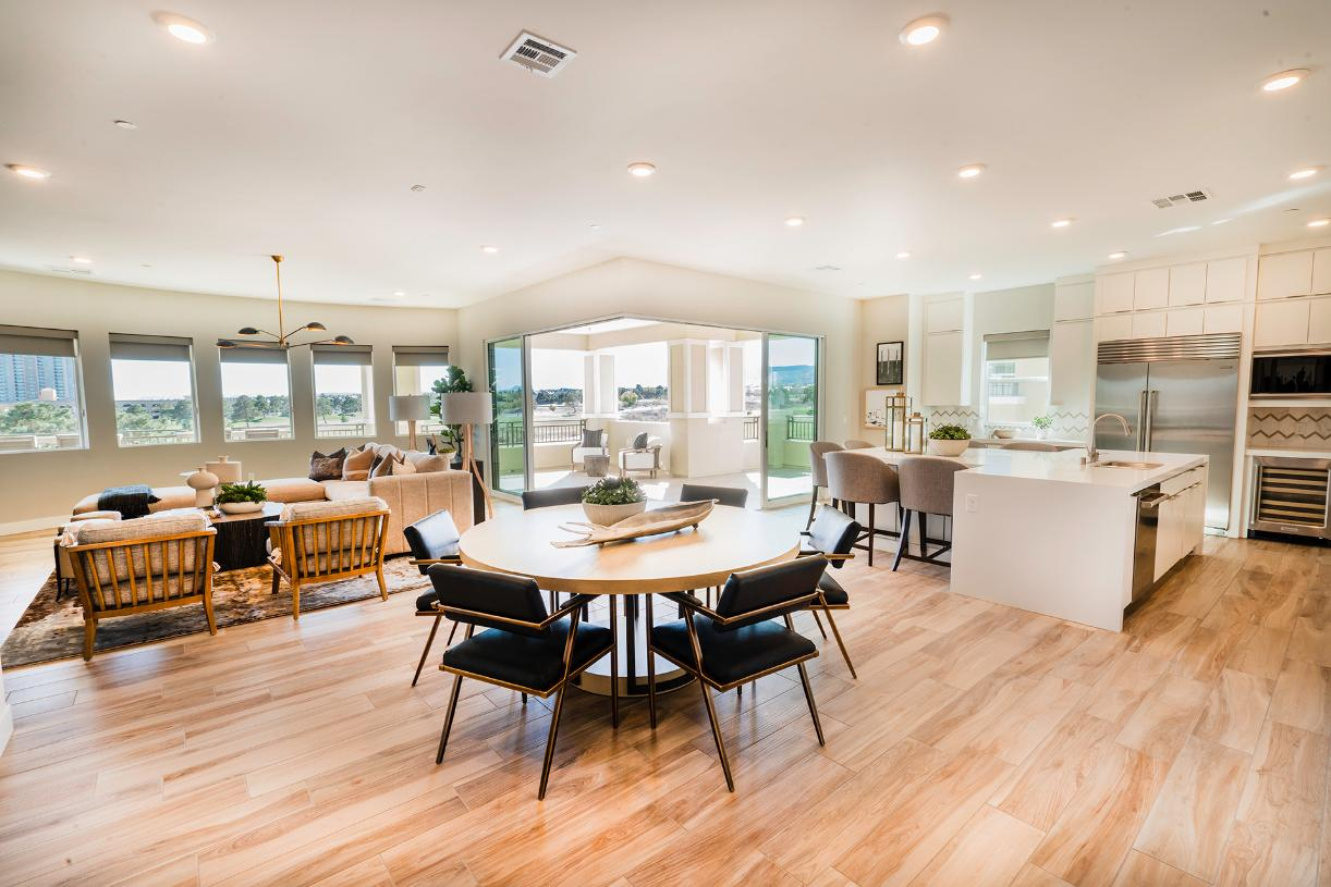 Bright and open floor plan with large covered deck