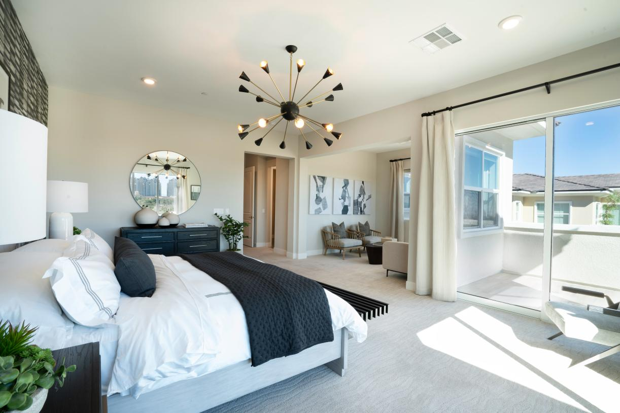 Bedroom suite offers a restful retreat