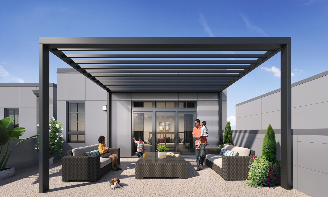 Spend the day outside on your rooftop terrace entertaining guests