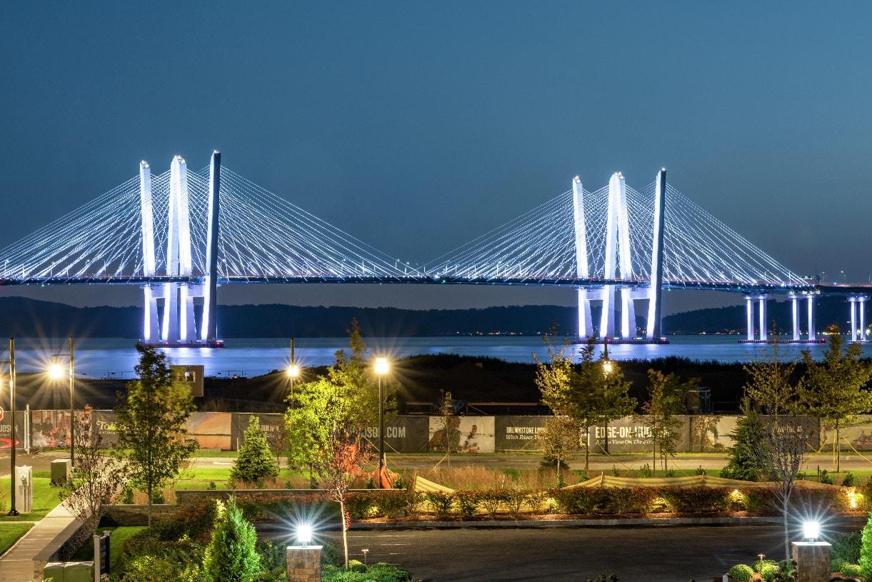 Governor Mario M. Cuomo Bridge provides the perfect backdrop for the community