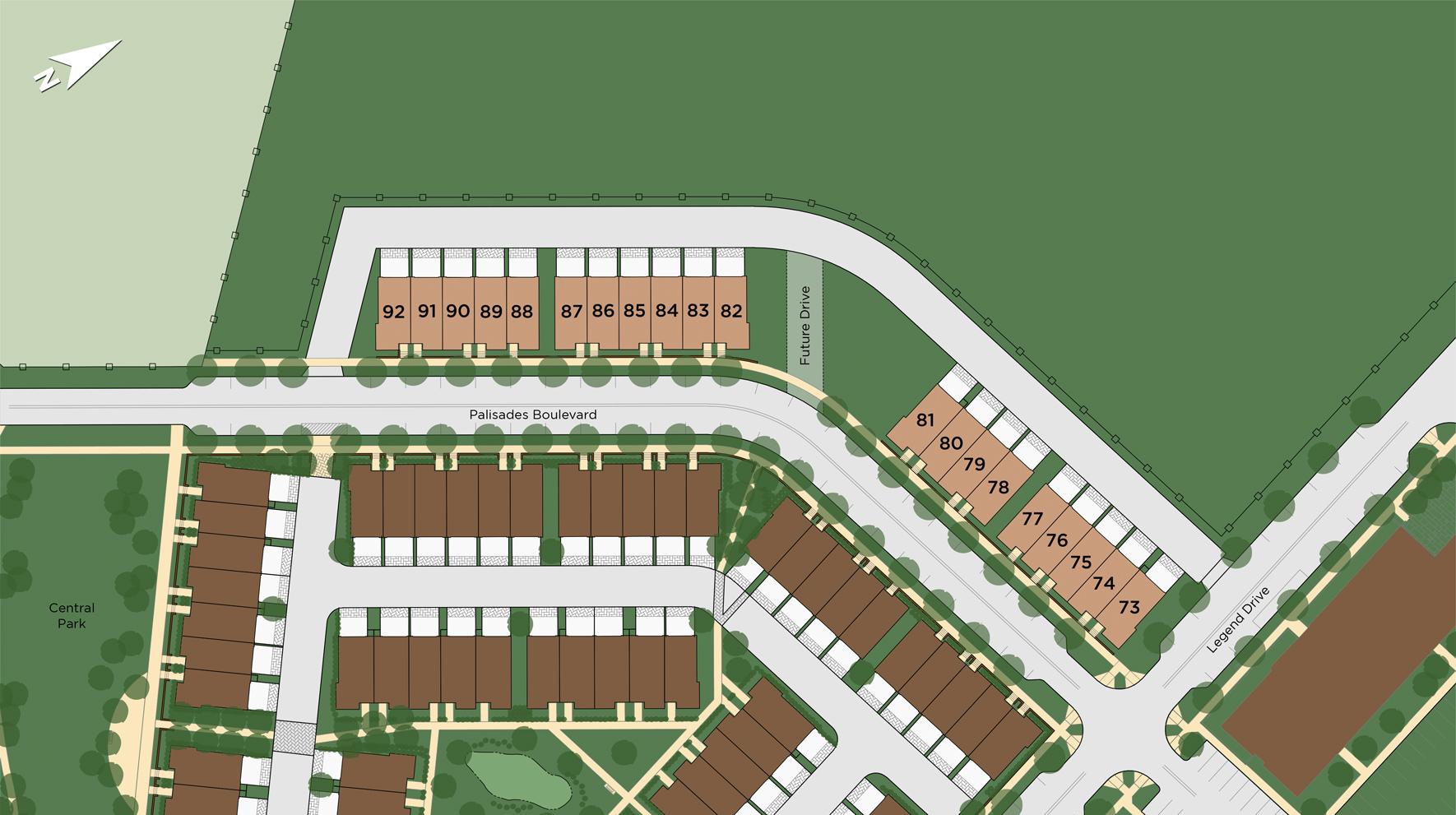 Brownstones at Edge-on-Hudson Site Plan II