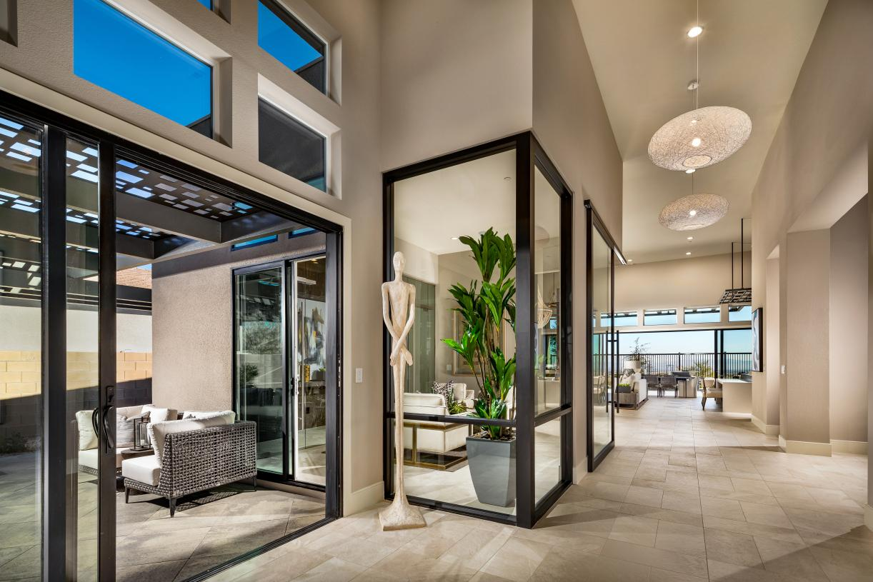 Luxurious, welcoming entry