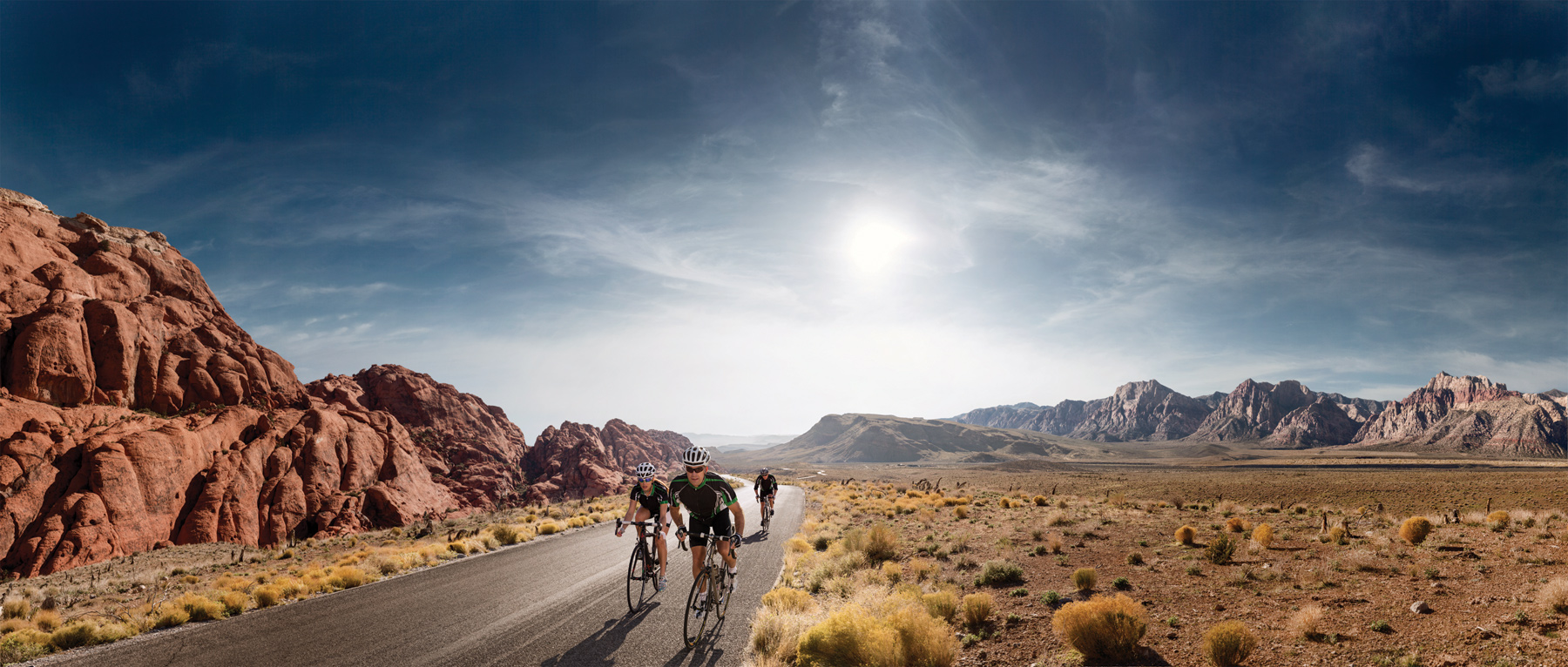 Bike through Red Rock Canyon Natural Conservation Area